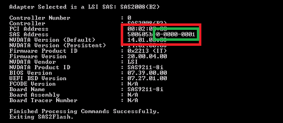 Updating your LSI SAS Controller with a UEFI Motherboard